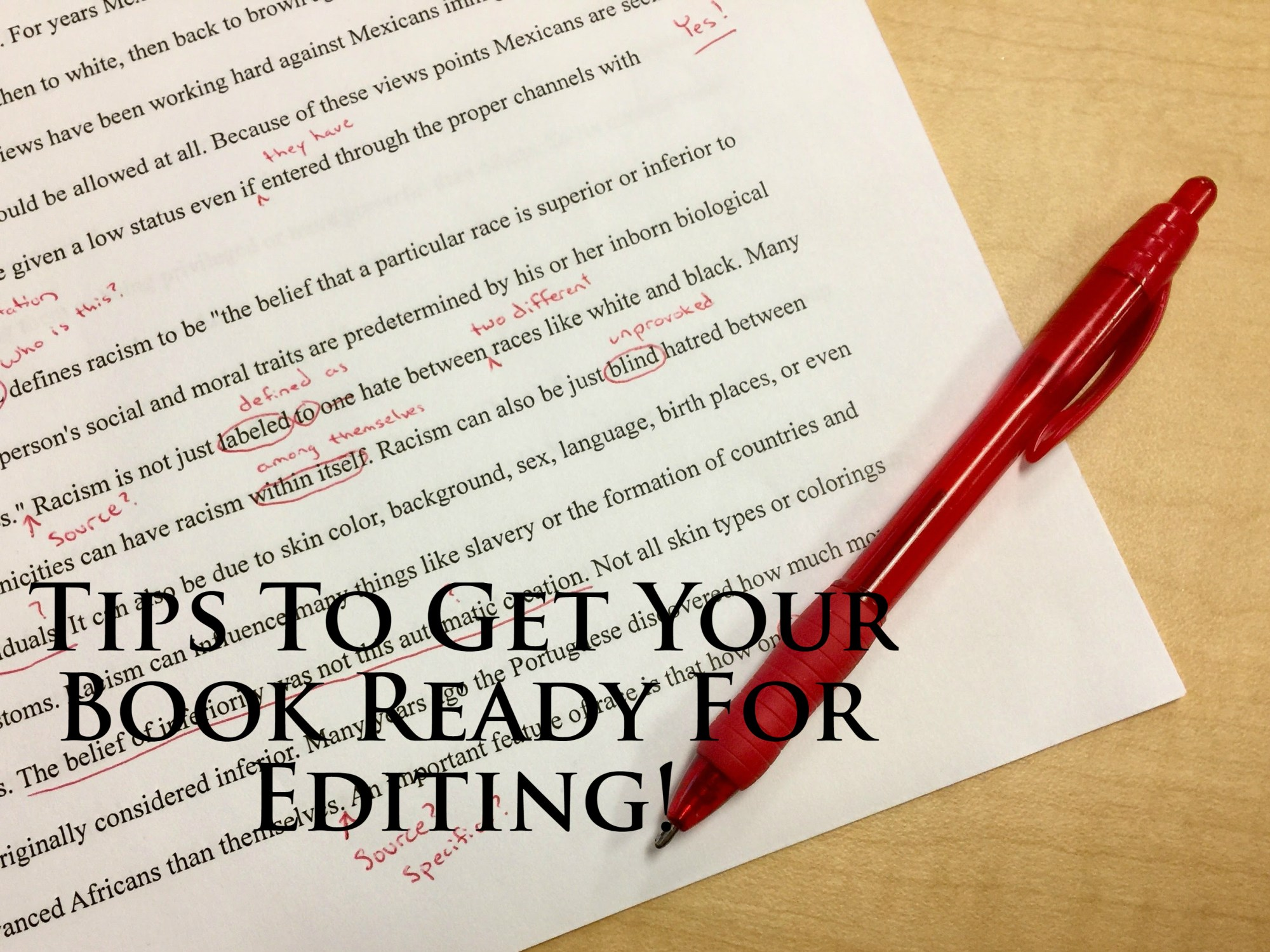 Tips To Get Your Book Ready For Editing!